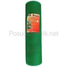 Гидроагрегат Сетка садовая пластиковая ромбическая 15x15мм, 1.5x20м, зеленая