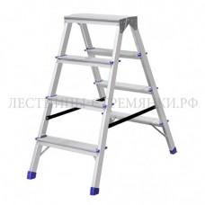 Stairs Стремянка алюминиевая двухсторонняя А204