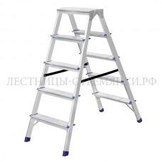 Stairs Стремянка алюминиевая двухсторонняя А205
