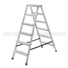 Stairs Стремянка алюминиевая двухсторонняя А206