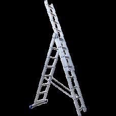 Лестница Stairs 3-х секционная алюминиевая